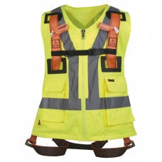 Delta Plus HAR12GILJA Yellow Hi-Vis Jacket with Harness